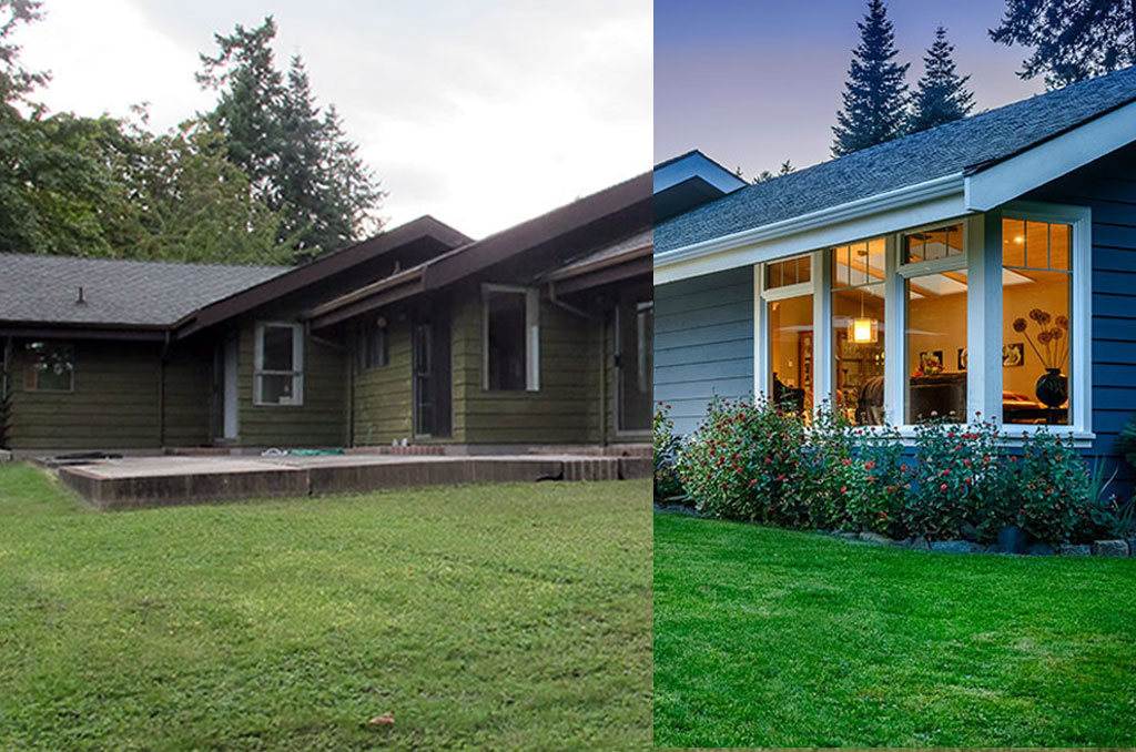 3 dramatic exterior renovations before and after modern for Exterior home renovations