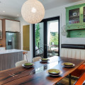 Custom Banquette Seating Rethinks The Open Plan Kitchen/Dining Area