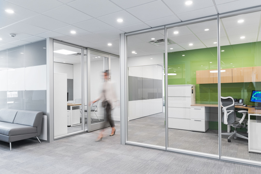 Modern Office Embraces Dirtt Wall System